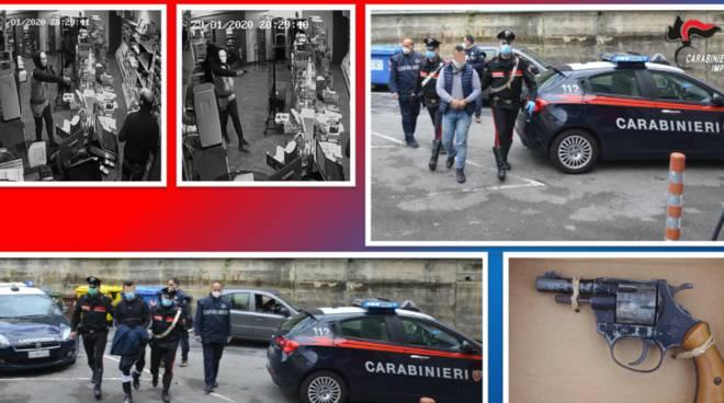 arresto carabinieri rapina Cipressa