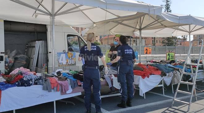 Bordighera mercato dopo lockdown