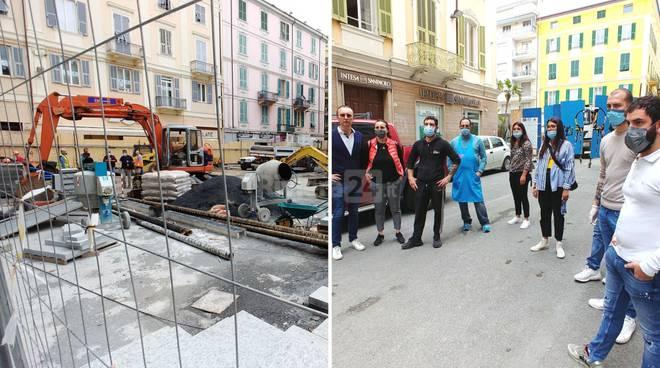 lavori piazza borea ditta silvano