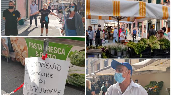 collage copertina protesta mercato oneglia