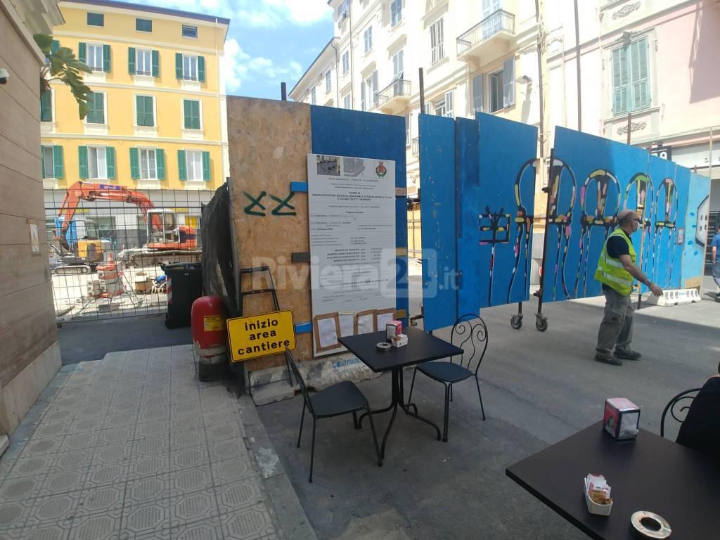 Riviera24 - Cantiere piazza mameli