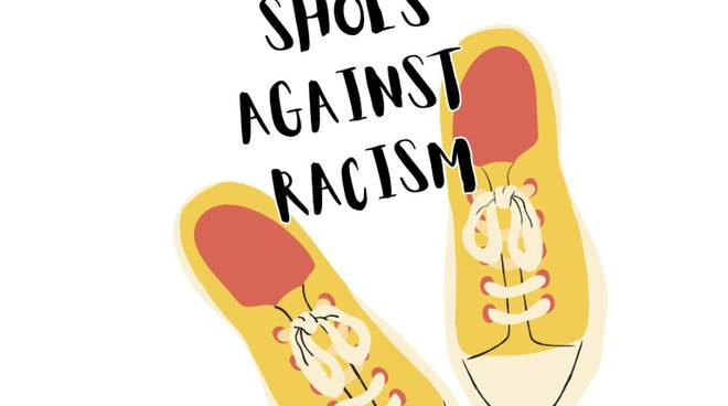 """20 shoes against racism"""