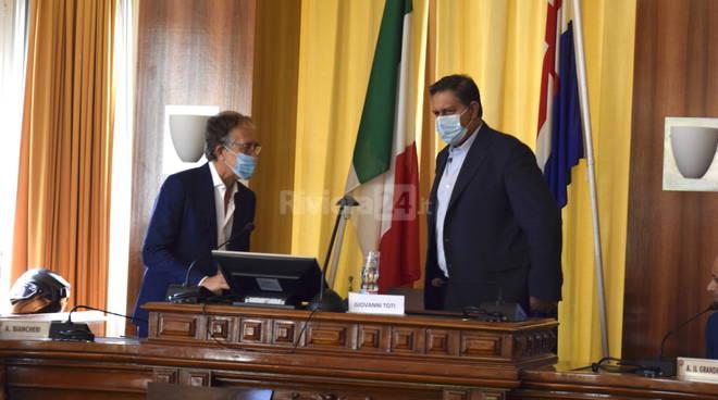 Il presidente Giovanni Toti in visita istituzionale a Sanremo. L'incontro con il sindaco Biancheri