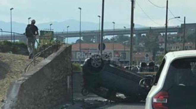 Imperia, incidente via Airenti a Caramagna