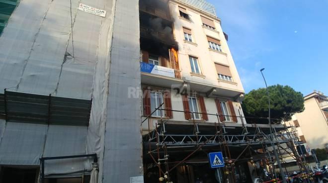 Incendio Sanremo corso Mombello