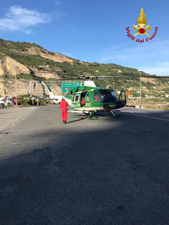 Incidente barriera autostradale Ventimiglia