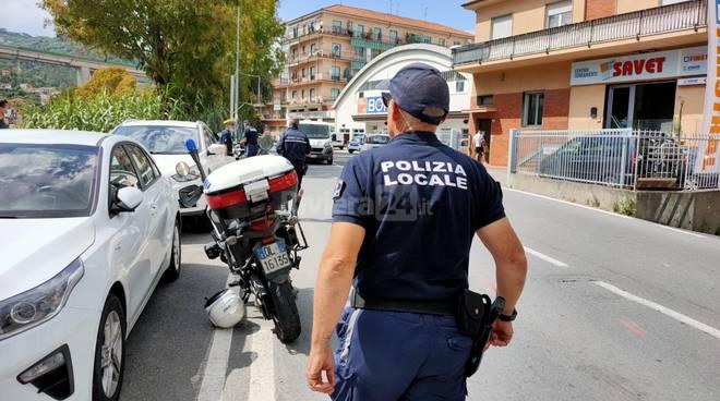 incidente argine sinistro imperia polizia municipale