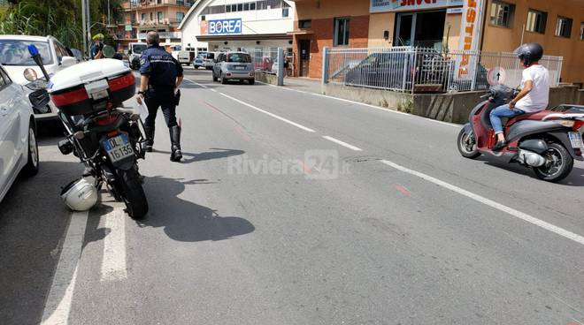 incidente argine sinistro imperia polizia municipale