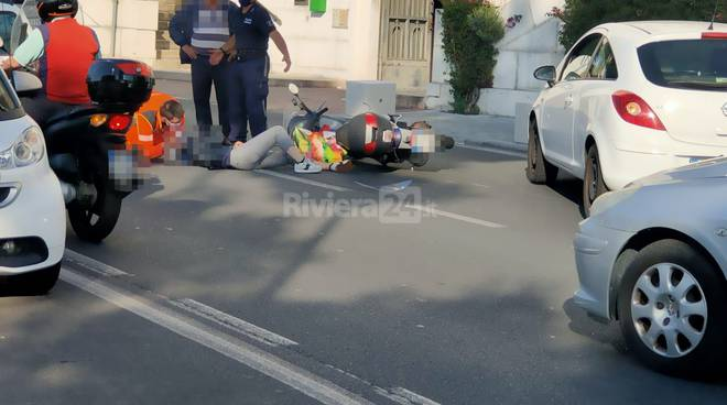 riviera24 - Incidente in viale Matteotti a Imperia