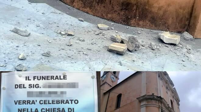calcinacci caduti chiesa Ospedaletti