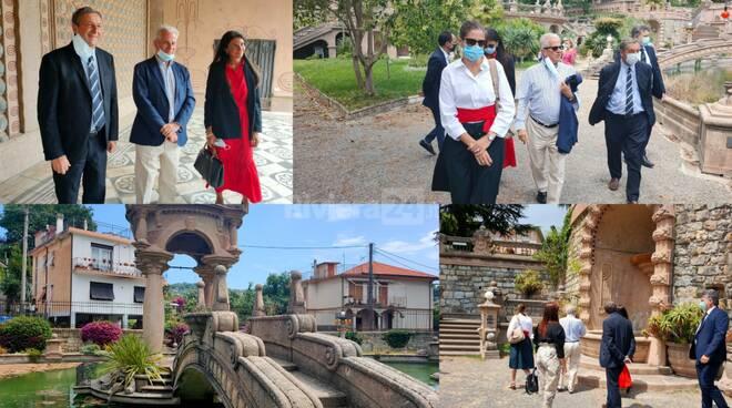 collage sopralluogo villa Grock