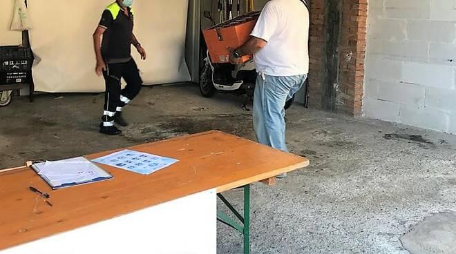 riviera24 - Magazzino della Protezione civile