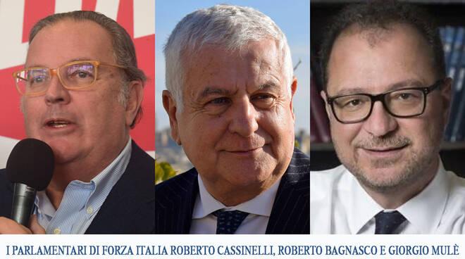 Roberto Bagnasco, Roberto Cassinelli e Giorgio Mulè