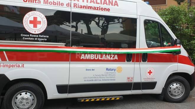 Rotary Club di Imperia celebra oggi la consegna di una ambulanza alla Croce Rossa Italiana