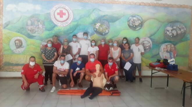 Neovolontari alla Croce Rossa di Pieve di Teco