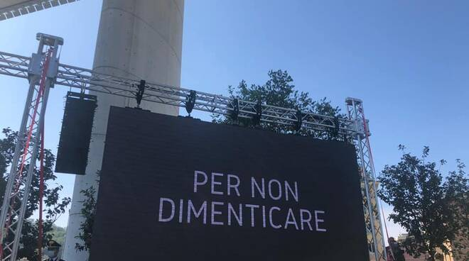 riviera24 - Commemorazione vittime del ponte Morandi