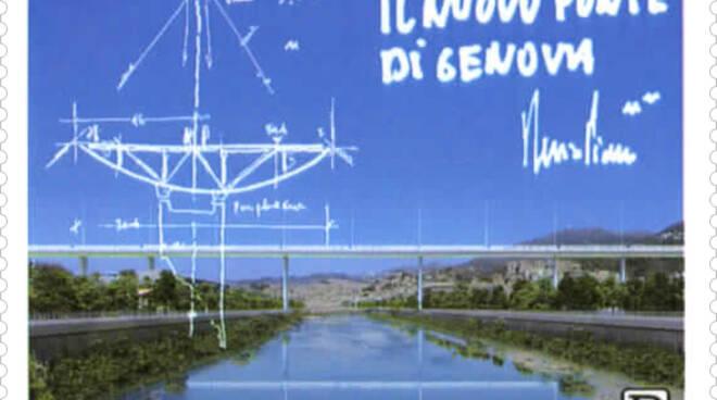 riviera24 - Francobollo ponte di Genova