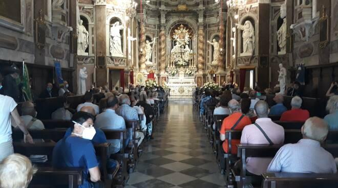 Riviera24- messa al Santuario della Madonna della costa