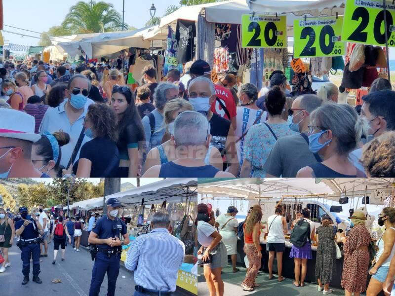 Ventimiglia assembramenti mercato venerdì