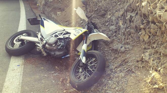 incidente moto capo berta