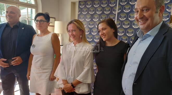 Giorgia Meloni a Imperia incontra gli imprenditori