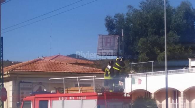 intervento vigili del fuoco bordighera