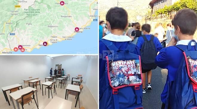 mappa scuole covid