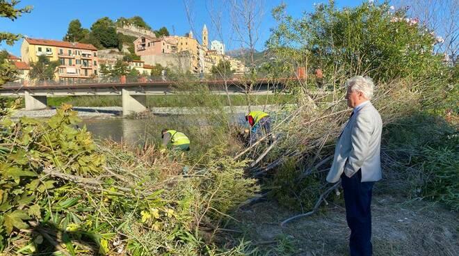 Riviera24- pulizia fiume roja