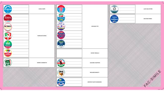 Riviera24- scheda elettorale regionali liguria 2020