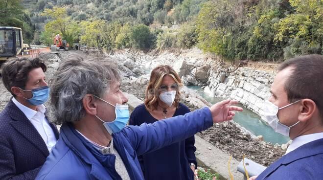 Alluvione in valle Argentina, visita di Paita e Rosato
