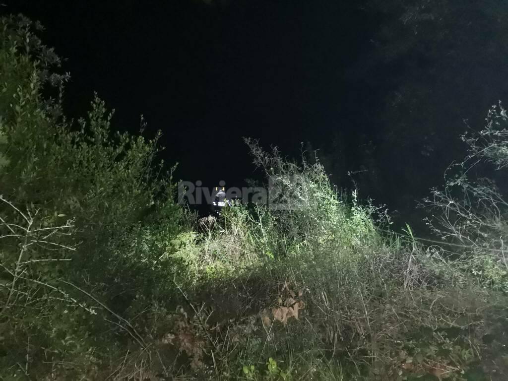 Incidente Bussana Vecchia 115 vigili del fuoco notte