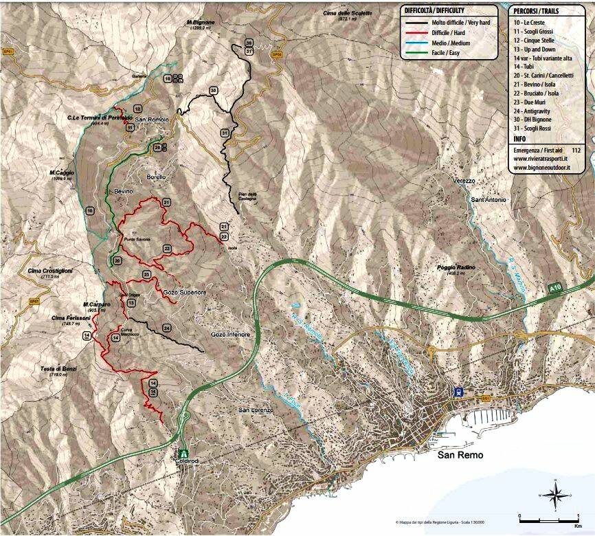 riviera24 - sentieri mountain bike monte bignone
