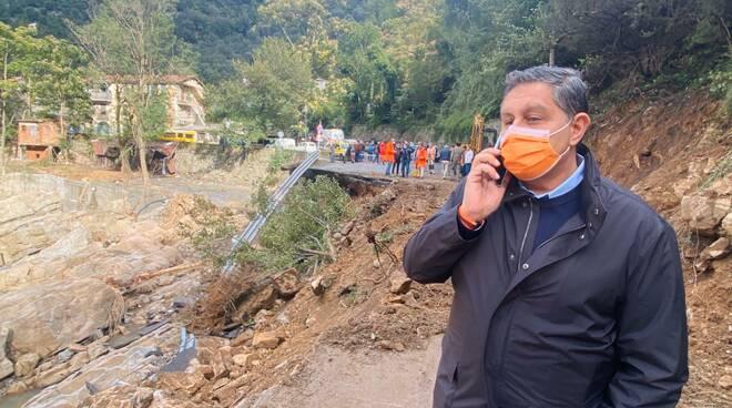 riviera24 - Sopralluogo Toti badalucco alluvione 2020 ottobre