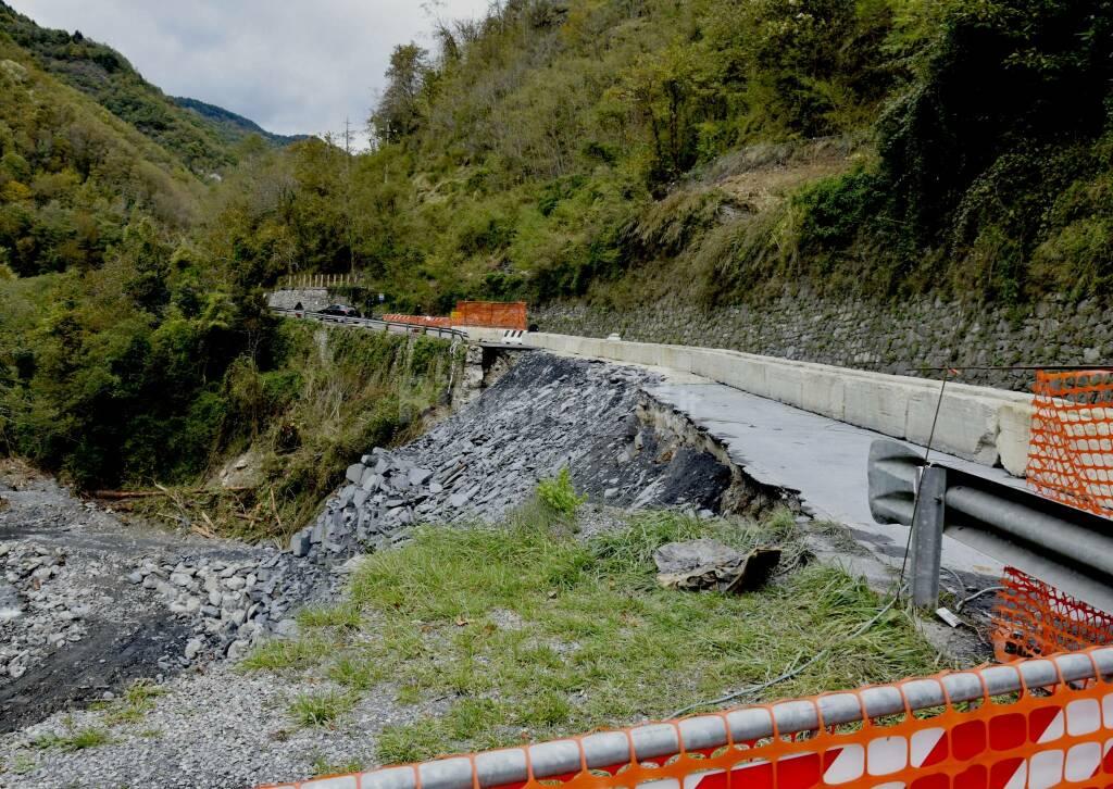 riviera24 - strada frana alluvione 2020 molini triora sopralluogo valle argentina