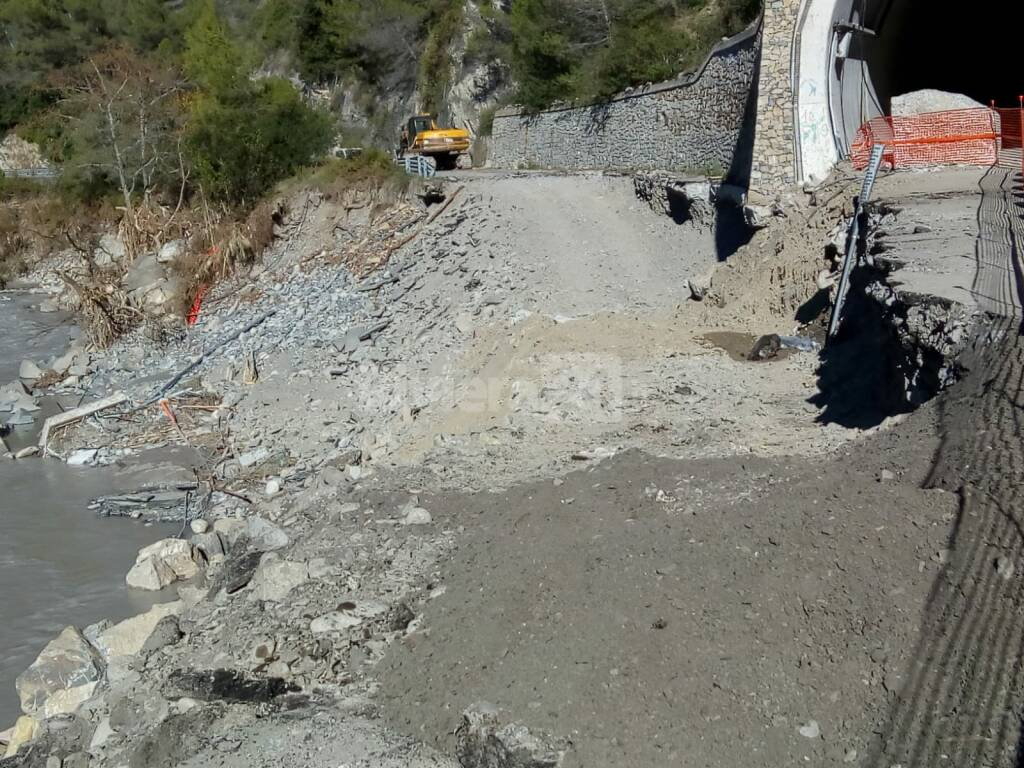 riviera24 - Strada vecchia per Airole maltempo