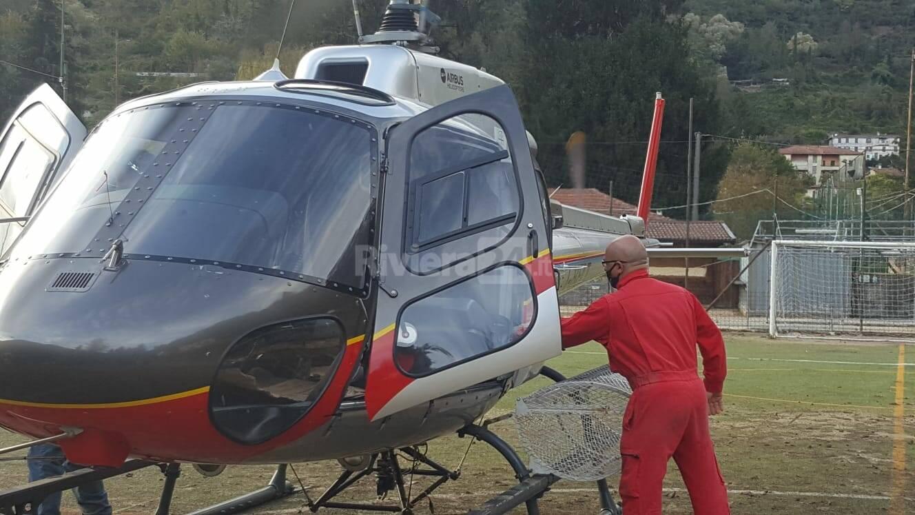 Visita del comandante provinciale dell'Arma Andrea Mommo nelle zone alluvionate della valle Argentina