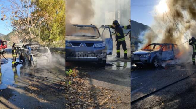 auto incendiata ventimiglia