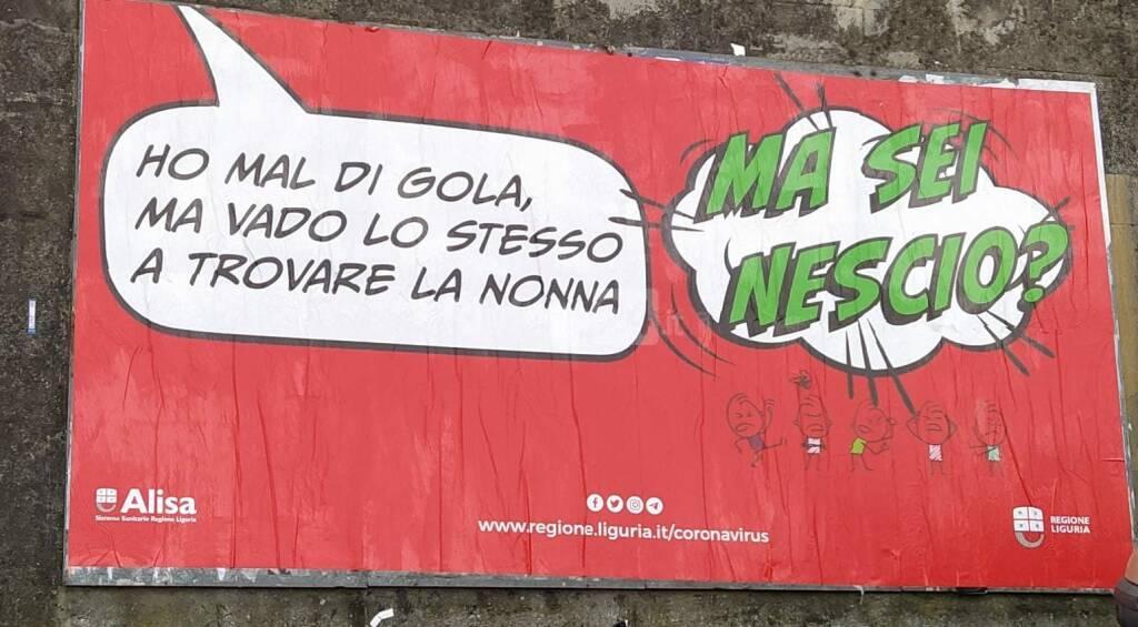 Campagna pubblicitaria anti Covid Liguria