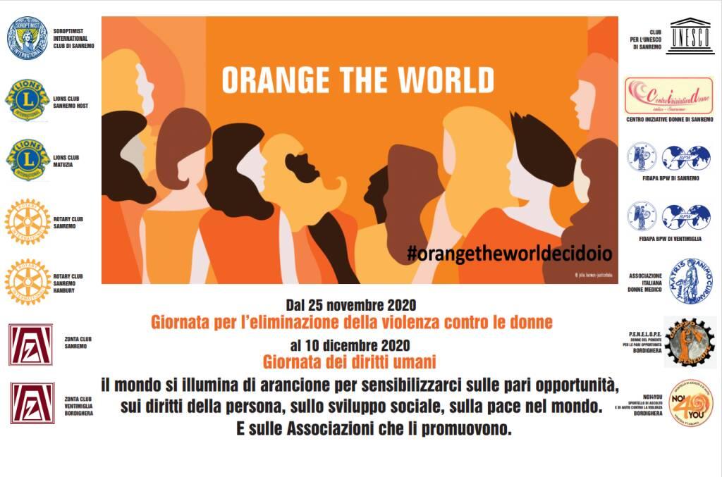 Comune di Ventimiglia si illumina di arancione