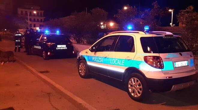 controlli vigili carabinieri sanremo notte