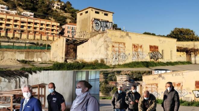 Demolizione ex cabine Enel Ventimiglia