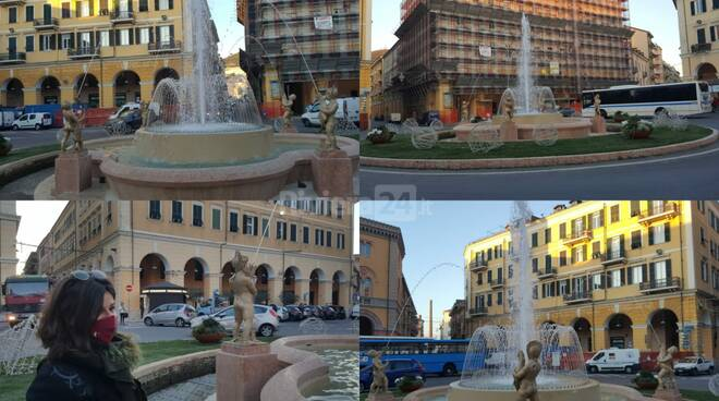 fontana piazza dante collage