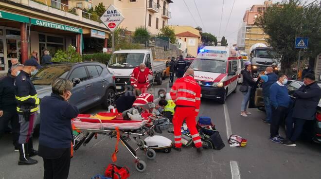 Gravissimo incidente corso Marconi Sanremo
