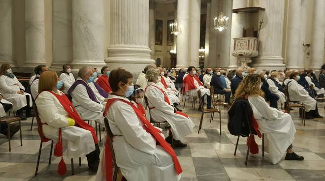 Imperia, messa pontificale di San Leonardo in Duomo