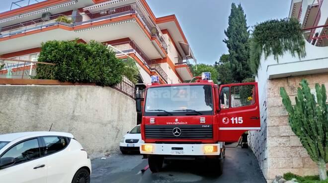 Incendio Ventimiglia via gerbere