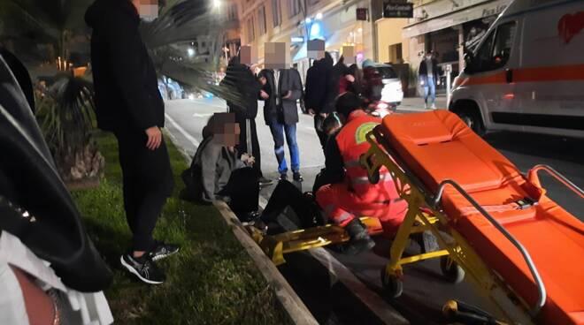riviera24 - investimento pedonale sanremo 118 soccorsi notturna