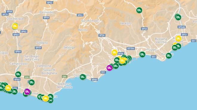 Riviera24. mappa ristoranti