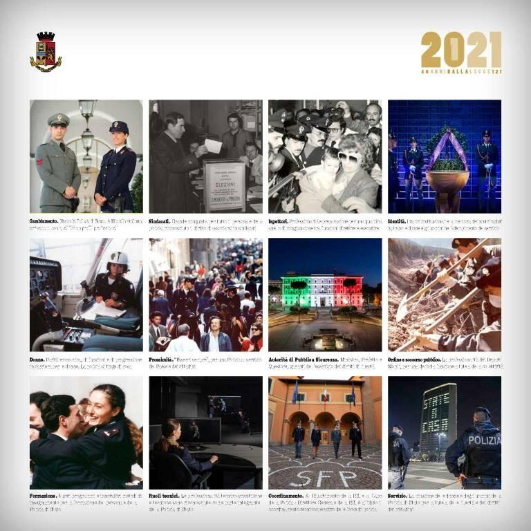 Calendario della Polizia di Stato 2021