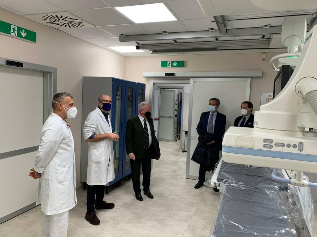Claudio Scajola visita l'ospedale di Imperia