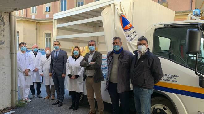 Donazione di Carrefour di Taggia all'ospedale di Sanremo